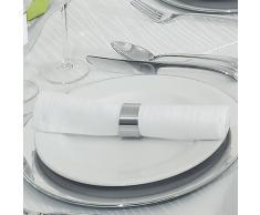 Servilletas de Tela color blanco lxan = 50 x 50 cm 6 Unidades