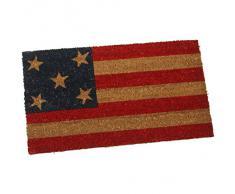 PAME 63185 - Felpudo de fibra de coco, diseño bandera americana, 70 x 40 cm