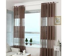 Molie Todo-fósforo de la raya Habitación Sala Balcón Ventana paneles de la cortina de proyección