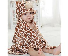 EVTECH (TM) Toalla Primavera Otoño Joven Bebé Niña Niño Albornoz Capa ultra suave manta de la franela del bebé Adecuado para 0-2 Años de Edad