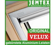 Original Velux Persiana De Revestimiento Persiana para GGL / GPL / GHL / GTL con aluminio Rieles laterales - también para GGU / GPU / GHU / GTU - Gris Uni - 0705S, GGL,GHL,GPL / S08