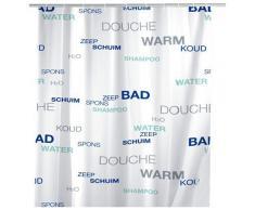 Wenko Cortina De Ducha Water, Polietileno, Multicolor, 180x200 cm