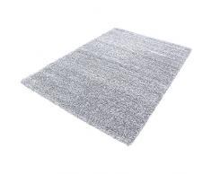 Shaggy Alfombra Peludo Alfombra de pelo largo Moquette alfombra de la sala uni gris Größe 140x200 cm