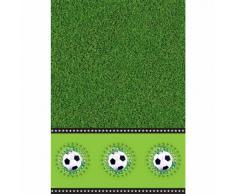 Folat - Mantel para fiestas (plástico, 130 x 180 cm), diseño de fútbol, color verde, blanco y negro