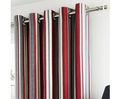 """Dreams n Drapes 46 x 137,16 cm """"diseño de rayas Melrose"""" Con forro cortinas, rojo"""