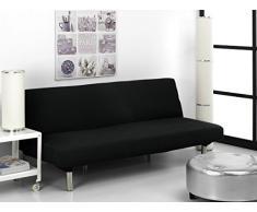 Funda de Sofá Elástica Clic-clac TEIDE, 3 plazas - desde 180 a 240 cm. Color Negro