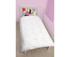 Character World INSIDE OUT - Juego de cama compuesto de funda de edredón nórdico reversible para cama individual y funda de almohada