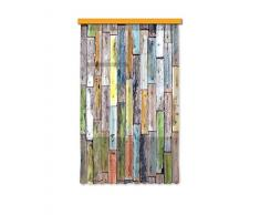 AG Design Diseño AG FCS L 7508 cortina, cortina, ropa, cortinas Photo Print madera, 140 x 245 cm, 1 pieza
