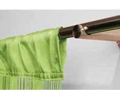 VICTORIA M Leonora Cortina de hilos 100 x 245cm, verde claro