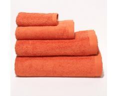 Sancarlos - Toalla rizo premium naranja baño - algodón peinado - densidad 550 g - baño 100x150 cm - naranja