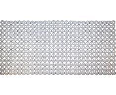 ID mate 763230 fondo burbujas-Alfombrilla de PVC para bañera, transparente, 72 x 36 x 0,4 cm