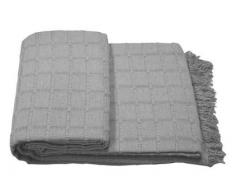 (230 Gris) ALFARNATE* COLCHA TEJIDA CON FLECOS MULTIUSOS FOULARD CUBRE-CAMAS PLAID LISO para cama o sofá CALIDAD SUPERIOR GARANTIZADA FABRICADO EN ESPAÑA (230_x_260_cm, GRIS)