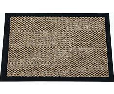 ID mate 9015010 Cahors/Florac Alfombra-Felpudo fibra de polipropileno y PVC, 150 x 90 cm x 0,67, marrón, 90 x 150 cm