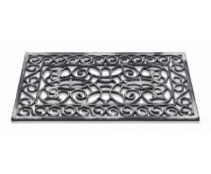 Felpudo INCA alfombra de puerta de alta calidad hecho de 100% de caucho reciclado. Para uso exterior. 15 mm. Resistente a las heladas. De color plata. 45 x 75 cm