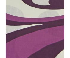 Cama completa barroco con sábanas de cama Nouveau abstracto - rojo púrpura con crema, algodón poliéster, Berry Purple Cream, funda de edredón doble King size