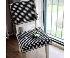 EFRC Todo algodón temporadas tejer el asiento de la silla cubre comedor silla Cojín amortiguador correas cojín de silla de oficina puede ser máquina lavada ,5