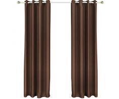 Songmics 1 pieza de Cortina opaca con ojales 145 x 245 cm Chocolate LRB245K