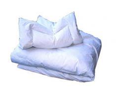 ARO Artländer 9033310 - Juego de cama infantil (edredón de 100 x 135 cm y almohada de 40 x 60 cm, 85% pluma gris y 15% plumón gris, clase 1, lavable a 60°)