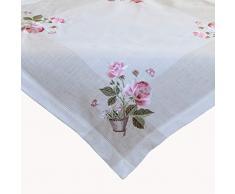 Raebel - Mantel para Centro de Mesa, Bordado de Rosas y cestas, 85 x 85 cm, diseño de Pascua