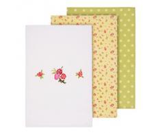 Premier Housewares 5100118 - Juego de trapos de cocina, algodón, 3 unidades, diseño de rosas y lunares