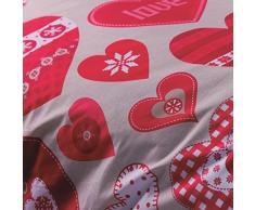 Catherine Lansfield Hearts - Juego de funda nórdica para cama de 135 cm