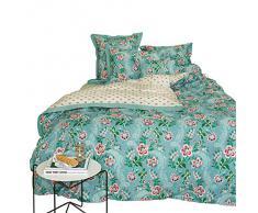 PIP reversible de ropa de cama de percal, 100% algodón, crudo, 135/200x80/80