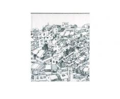 Opportunity 11K12200006 - Cortina de ducha (acetato, 180 x 200 cm), vinilo con diseño urbano