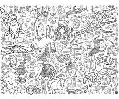 Diseño de animales de color Amazing Eggnogg mantel para niños Kids papel de regalo