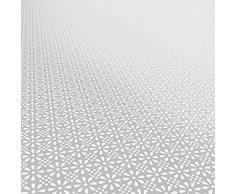 Mantel hule Cera Mantel encerado mantel lavable Retro Uni Trend, toalla, gris plateado, 100 x 140cm