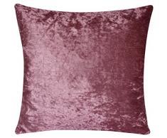 Bullahshah Colores lisos a dos caras Colores lisos Velvet Terciopelo exuberante 18 X 18 Fundas de cojín para Sofá Cama Sofá (Rosa Pastel)