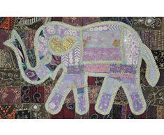 Diseño de algodón Patchwork bordado decorativo tapete de pared 101 x 152 cm