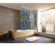 Kleine Wolke 3320100746 - Cassette para cortina de ducha enrollable (combinable de forma individual, 134 cm), blanco