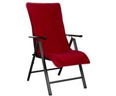 Brandsseller - Funda de rizo para silla de jardín y tumbona de jardín, así como para tumbona de playa, 100% algodón, varios colores, rojo