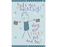 """Home & Dry-Trapo de cocina (100% algodón con texto Amazing Dad """""""