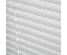 Levivo - Persiana de aluminio (cordón de tracción, longitud acortable individualmente, 110 x 130 cm), blanco