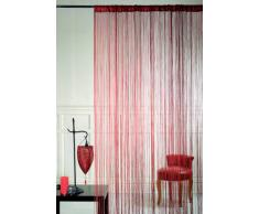 HomeMaison HM69807872 - Cortina de hilos, color rojo