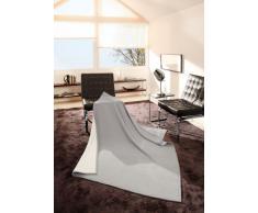 Bocasa 31905 Pure - Manta (150 x 200 cm, 50% lana virgen y 50 % algodón), color gris