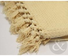 Just Contempo Manta de algodón Beige King Size 259 x 259 cm