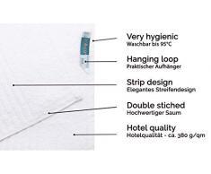ZOLLNER 2 Toallas de Sauna Blancas, Toallas de baño, algodón, 70x180 cm