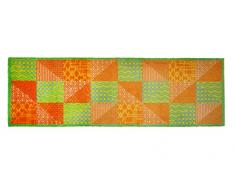 Alfombrilla LifeStyle 200267 Colcha de retazos, alfombra antideslizante y lavable, ideal para el armario, la cocina o el dormitorio, 50 x 150 cm, verde / amarillo