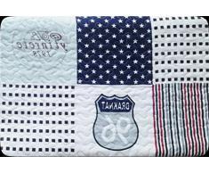 ForenTex- Colcha Boutí reversible, (M-2638), cama 135 cm, 230 x 260 cm, Estampada cosida, Estrellas Draknat, +2 cojines, colcha barata, set de cama, ropa de cama. Por cada 2 colchas o mantas paga solo un envío (o colcha y manta),