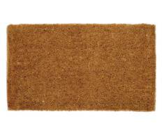William Armes 2340002 Dandy Kersey - Felpudo de fibra de coco natural y yute (68 x 40 cm, tejido a mano), color marrón