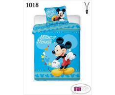 Juego de cama infantil, 2 piezas, 100 x 135, 40 x 60, diseño de Disney 1018 Minnie Mouse