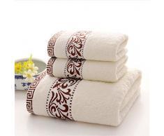 Juego de toallas danmo textiles para el hogar toalla de baño toalla Hombres & Mujeres Tres hojas algodón grueso suave agua cabello seco toalla toalla toalla toalla toalla de baño * 2 + * 1