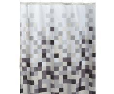 Sealskin Cortina de Ducha Pixel, 180 x 200 cm, Poliéster, Negro