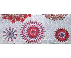 ForenTex- Colcha Boutí reversible, (L-2632), cama 150 cm, 240 x 260 cm, Estampada cosida, Mandala Naranja, colcha barata, set de cama, ropa de cama. Por cada 2 colchas o mantas paga solo un envío (o colcha y manta), descuento