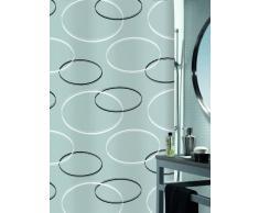 Spirella colección Anello, Cortina de Ducha Textil 180 x 200, 100% Polyester, Gris