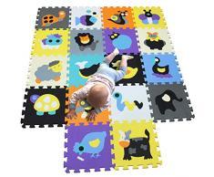 MQIAOHAM puzzle alfombrillas skip hop juego parques infantiles bebes acolchado manta tapete zona alfombras acolchadas grande goma eva P011015G321218