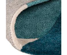 """Moderno y abstracto cadorabo alfombra - resistente de color y confeccionadas a mano para colgar, poliéster, Teal Beige Brown, 160x220cm (5'3""""x7'3"""")"""