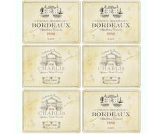 Pimpernel Vin de France - Juego de manteles individuales (6 unidades), diseño de viñedo francés